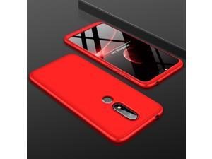 3 in 1 Double Dip 360° Full Protective Case For NOKIA X6 / Nokia 6.1 Plus - Red (red)