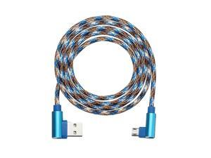 APPACS Camouflage Micro USB to USB Double 90 Dregee Right Angle Tablet Cable 1M -- Blue / Green - Blue (blue)