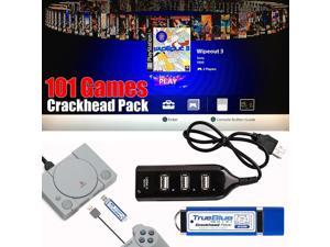 True Blue Mini Crackhead Pack 101 Games For PlayStation Classic Game Accessories -
