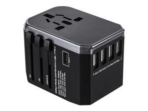 ?Flash Deal?All in One 4USB Ports Universal International Plug Adapter World Travel AC Power Charger [ US UK AU EU] -