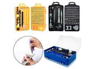 115 in 1 Magnetic Screwdrivers Set Multi-function Electronic Device DIY Repair Tools - Black