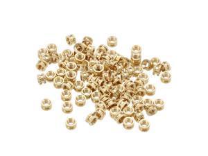 100 Pcs Suleve M3BN4 M3*3*5mm Metric Threaded Brass Knurl Round Insert Nuts -