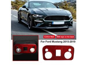 For Ford Mustang Carbon Fiber Red Reading Lights Control Panel Trim Sticker New -