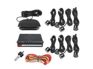 LCD Display Car Parking Sensor 8 Rear Front View Reverse Backup Radar System Kit -