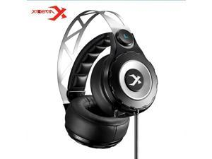 Xiberia T18 Pro USB 7.1 Surround Sound Gaming Headset Wired Computer Headphone Deep Bass Game Earphone With Mic LED for PC Gamer - Black