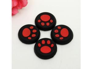 4pieces Thumb Stick Grips Caps Gamepad Joystick Cover Case For Sony PlayStation 3 4 PS3 PS4 Xbox One 360 Controller ThumbStick - Red