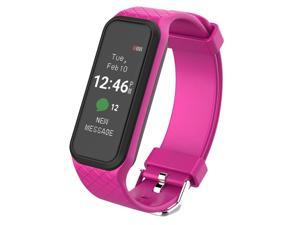 X2 Smart Bluetooth Wristband Waterproof Heart Rate Monitor Fitness Tracker Smart Watch Bracelet For Android IOS Phone Sport - Pink
