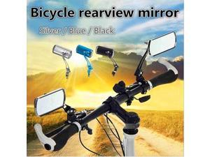 Bicycle Rearview Mirror Rotary Handlebar Glass Rear View Mirror For Road - Black