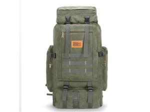 80L Waterproof Hiking Backpack Military Tactical Backpack Outdoor Climbing Camping - Green