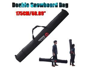 175cm/68.89 Inch Ski Bag for Double Snowboard Polyester Material Sport Accessory -