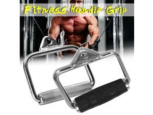 Fitness Handle Grip Accessories Cable Machine Attachments Rope D-handle Reduce Weight Cable Crossover Home Indoor Gym Sports - Silver