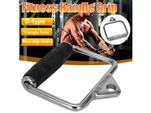 Fitness Handle Grip Accessories Cable Machine Attachments Rope D-handle Reduce Weight Cable Crossover Home Indoor Gym Sports - Black