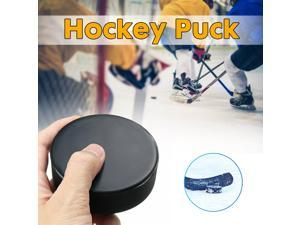 Durable Sports Rubber Ice Hockey Ball Competition Training Exercise Puck Lat - Black