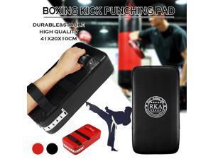 MMA BOXING KICK FOOT TARGET PUNCHING PAD BAG TRAINING SHIELD THAI TAEKWONDO GYM - Black