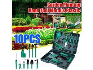 NASUM 10PCS Gardening Bonsai Hand Tools Set Garden Cutter Trimmer Shear Trowel -
