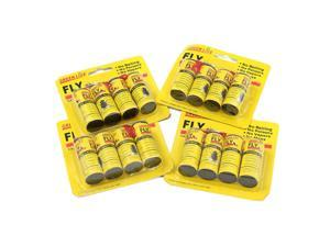 16 Rolls Insect Bug Fly Glue Paper Catcher Trap Ribbon Tape Strip Sticky Flies - Apricot