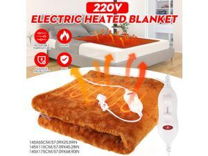 220V Efficient Winter Electric Blanket Heater Single Body Warmer Thermostat Electric Heating Blanket Heated Mat - 145x115cm