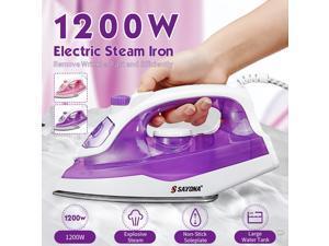 1200W Handheld Clothes Steamer Garment Portable Fabric Steam Heat Iron - Purple