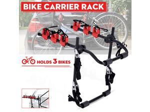 Adjustable 3 Bike Carrier Trunk Mounted Rack Car Rear Boot Bicycle For SUV -