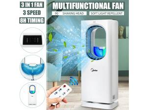 All-in-one Purification Air Fan Cooler Conditioner Light Desktop Purifier Humidifier Home Mosquito Killer Multifunction Tower Fan cConvection Air Circulation Fan - With purification net