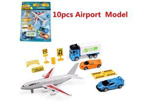 Airport Playset Airplane Aircraft Models & Accessories Assembled Toys -