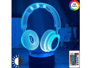 3d Night Light Headset Led Touch Sensor Colorful Nightlight for Kids Bedroom Decorative Light Cool Gift for Child 3d Lamp Desk