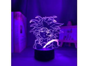 Anime Hunter X Hunter Killua 3d Led Lamp for Bedroom Decor Nightlight Birthday Gift Acrylic Led Night Light Hxh Killua Godspeed