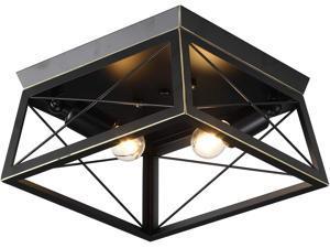 TFCFL Industrial Black Ceiling Lights, Ceiling Lighting Fixtures, Farmhouse Recessed Installation Mini, for Kitchen Island Restaurant Bedroom Hallway Corridor