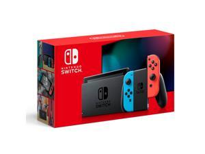 """Nintendo Switch 32GB Console with Neon Blue and Neon Red Joy-Con, 6.2"""" Touchscreen LCD Display, 3.5mm Audio Jack, Built-in Speakers, Bluetooth, Bundled with 9-in-1 Carrying Case Accessories"""