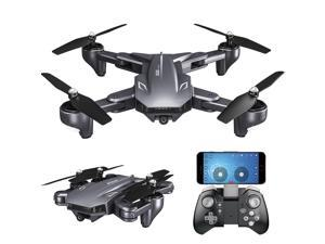 TakeIt Foldable RC Drone with 4K/2k Dual Camera Wifi FPV Gesture Shooting Selfie Optical Flow Positioning Quadcopter Drones