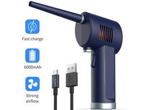 TakeIt Air Duster for Computer Electronics Cleaning, Cordless, Rechargeable 6000mAh Battery, Powerful 33000 RPM, 10W Fast Charging Air Duster Compressed Air
