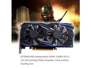 Graphic Card for GTX 960 2GB GDDR5 128-Bit Office,High-Performance and Low-noise and Ultra-high-Definition Gaming Video Card with DP/DVI-D/HDMI I/OInterface