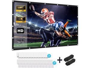 Keenstone Projector Screen, 120 inches 16:9 HD Foldable Anti-Crease Portable Projector Movies Screen