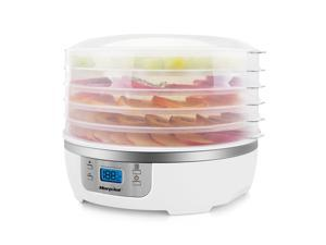 Morpilot Food Dehydrator Machine, Professional Multi-Tier Kitchen Food Dehydrator Appliances, Meat Fruits or Vegetable Dryer with 5 Stackable Trays, High-Heat Circulations