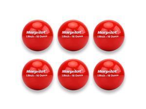 Morpilot Baseball and Softball Practice Training Balls, 1lb Weighted Baseballs/Softballs,6-Pack, PVC Shell, Iron Sand Filling