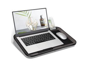 """Lap Desk for Laptop with Built-in Mouse Pad and Cellphone Tablet Holder, Fits up to 15.6"""" Laptop, Black"""