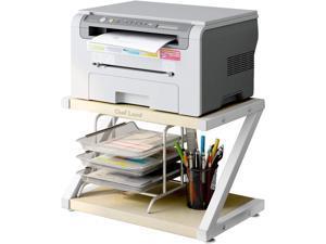 Cheflaud Printer Stand, Desktop Stand for Printer, Storage Shelf, Book Shelf, and File Shelf for Home Office