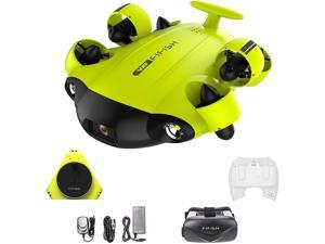 FIFISH V6 ROV Underwater Drone with 4K UHD Camera, VR Headset, Dive to 330ft, 166° FOV, 4000lm LED Support 360° Movement, Posture Lock, Slow Motion, Image Stabilization, APP Real-Time Viewing
