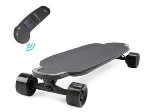 Electric scooter wheels fast electric longboard skateboard with dual hub motors 600w*2 and solid trucks for adults