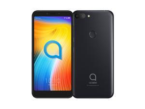 "Alcatel 1S 5024I (2019) 5.5"" HD+ Display, 32GB + 3GB RAM, 13MP Triple Camera, 3060 mAh Battery, 4G LTE, Android 9.0 (GSM Only-No CDMA) Factory Unlocked - International Version (Metallic Black)"