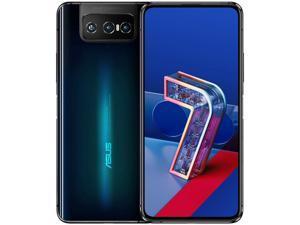 ASUS ZenFone 7 Dual-SIM (ZS670KS) 128GB ROM + 8GB RAM (GSM Only | No CDMA) Factory Unlocked 5G Android Smartphone (Aurora Black) - International Version - Original factory certification