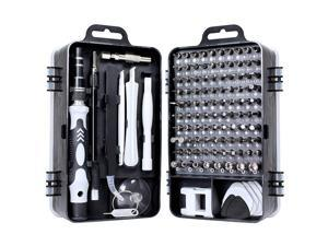 115PCS Precision Screwdriver Set 115 in 1 Electronic Repair Tool Kit for iphone,Computer,Watch,and More(Black)