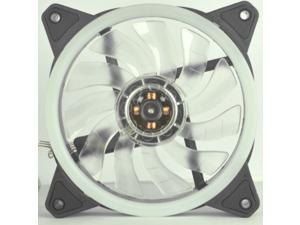 12cm Case Fan, LED Yellow 11-Blade Radiator Fan, Computer PC Chassis CPU Cooling Fan CPU Cooler, 1 Pcs