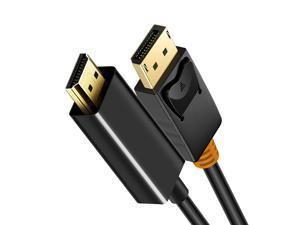 DisplayPort To HDMI Black Cable 1080P 4K 30hz Converter, Display Port to HDMI Male to Male Adapter DP 1.2 for HDTV, 3M Length