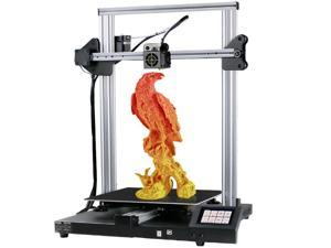 CREASEE DIY 3D Printer, Upgraded Silent Motherboard, Meanwell Power Supply, High Precision with Carborundum Glass Bed, Resume Printing,Silver (Print Size 300x300x400mm)