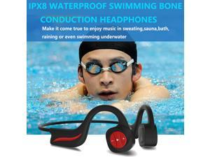 Waterproof Bone Conduction Headphones for Swimming,IPX8 Open-Ear 16GB MP3 Player Wireless Bluetooth Sports Swimming Headphones with Noise Cancelling MIC for Cycling,Hiking,Diving,Swimming,Running,Gym