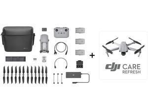 "DJI Mavic Air 2 Fly More Combo & 1-Year DJI Care Refresh Bundle - Drone Quadcopter UAV with 48MP Camera 4K Video 1/2"" CMOS Sensor 3-Axis Gimbal 34min Flight Time ActiveTrack 3.0, Gray"