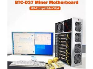 GPU Miner Mining rig Machine System for Mining ETH Ethereum,8 GPU Miner Including 55mm Slots Distance Motherboard, CPU, SSD, RAM,PSU, Case with 4 Cooling Fans(Without GPU)