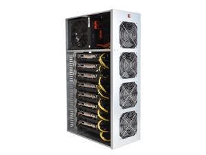 ISZEYU BTC T37 Mining Rig, 8 GPU Complete Miner Rig, Mining Machine System for Crypto Coin Currency Mining, GPU Miner Including Motherboard (Without GPU) Case with Cooling Fans,Barebones
