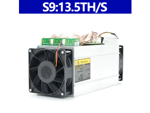 AntMiner S9 13.5TH/S 16nm ASIC Bitcoin Miner with APW7 PSU Scrypt Same Quality with L3+ Litecion Mining Innosilicon Machine